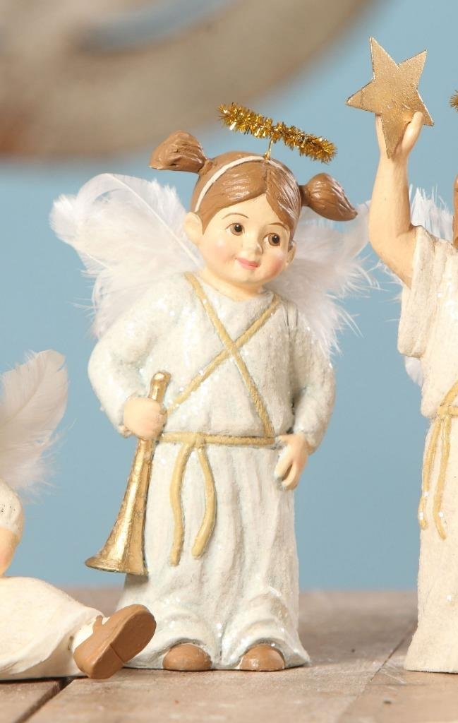 Bethany Lowe The Christmas Pageant Nativity Children Figure Angel Holding Trumpet