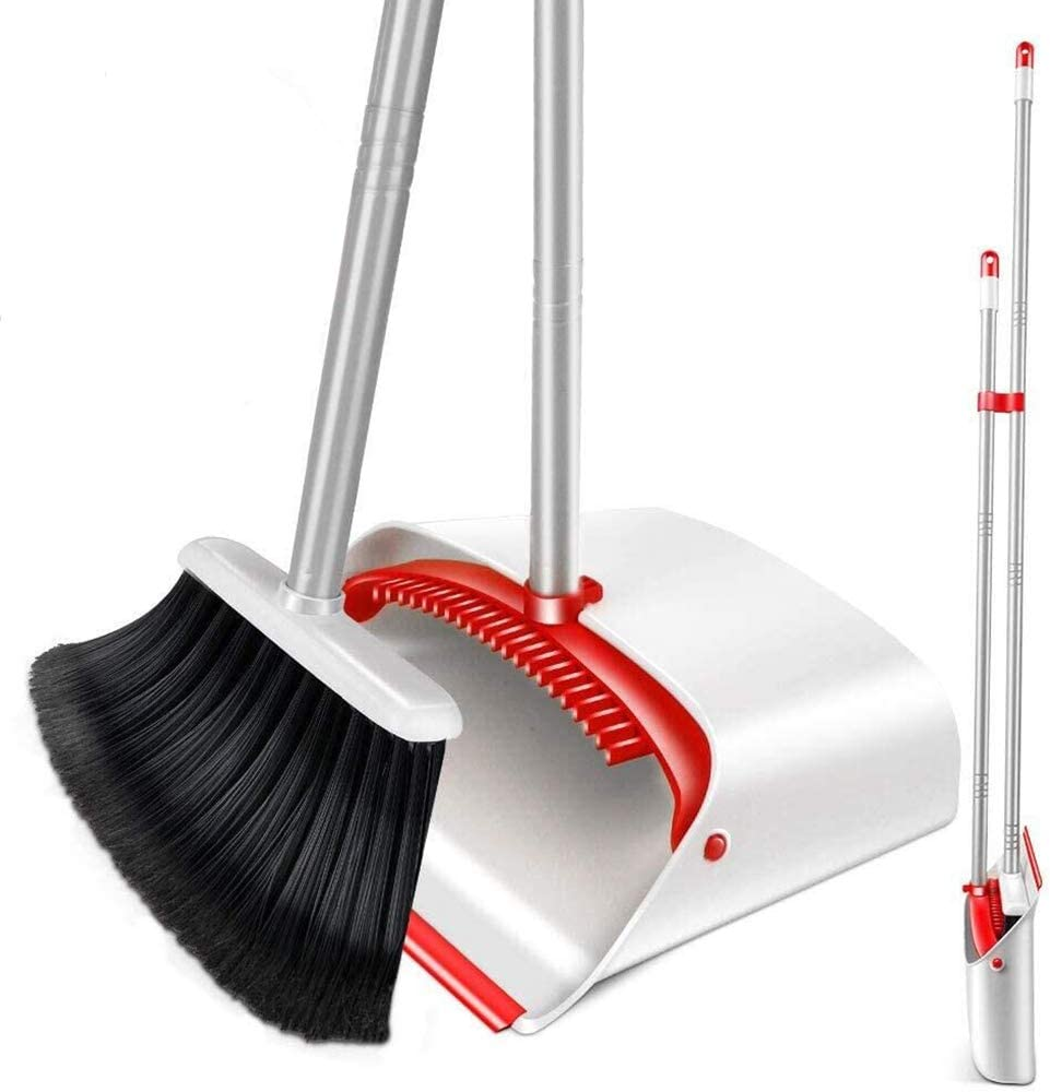 Upright Broom and Dustpan Set with 52
