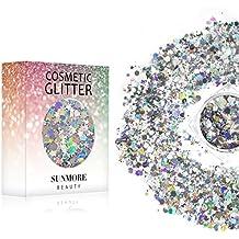 Noble Goddess - Iridescent Cosmetic Glitter, Chunky Glitter Festival,Shining Makeup Glitter for Beauty Makeup Face Body Hair Nails