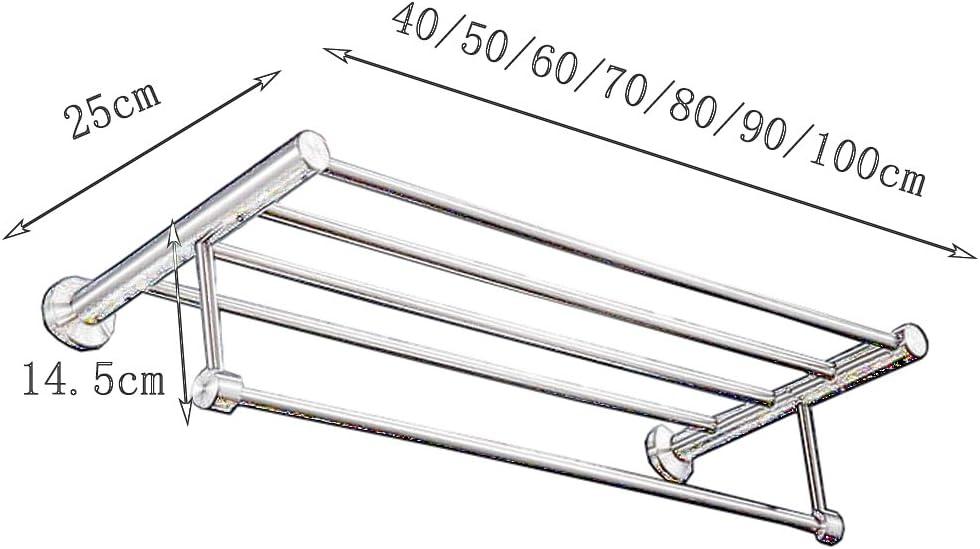 GLJ 304 Par /Étirage Du Fil Dacier Inoxydable /À Double Porte Serviette De Bain//Montage Al/ésage//Plusieurs Tailles Disponibles Porte-serviette Size : 50cm