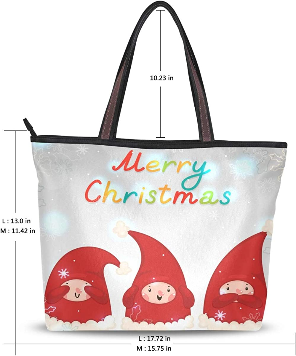 Handbag Shoulder Bag Snowflake Lightweight White Handbag Bags Travel Handbag Large Capacity Water Resistant with Durable Handle