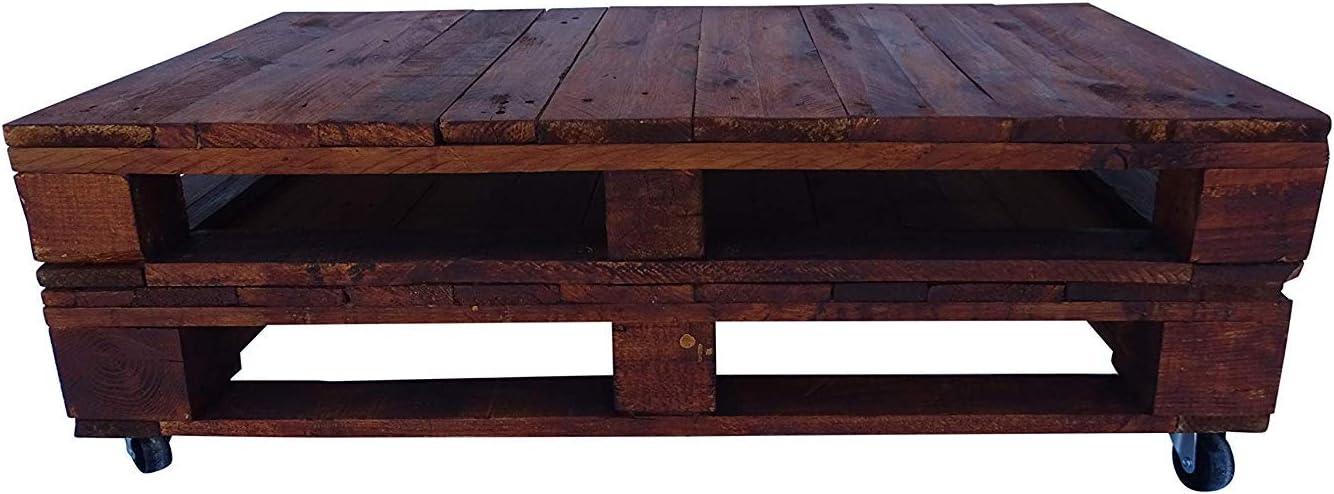 Mesa de pallets color Nogal - Dydaya: Amazon.es: Hogar
