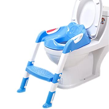 b6dac36d3d Amazon.com : Baby Toilet Seat Drop Shipping Baby Folding Potty Trainer Seat  Chair Adjustable Ladder Portable Child Potty Kids Toilet Seat : Baby