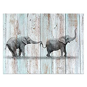 Visual Art Decor Creative Canvas Prints Wall Decor Dual View Picture on Wood Background Canvas Prints Wall Art Decor