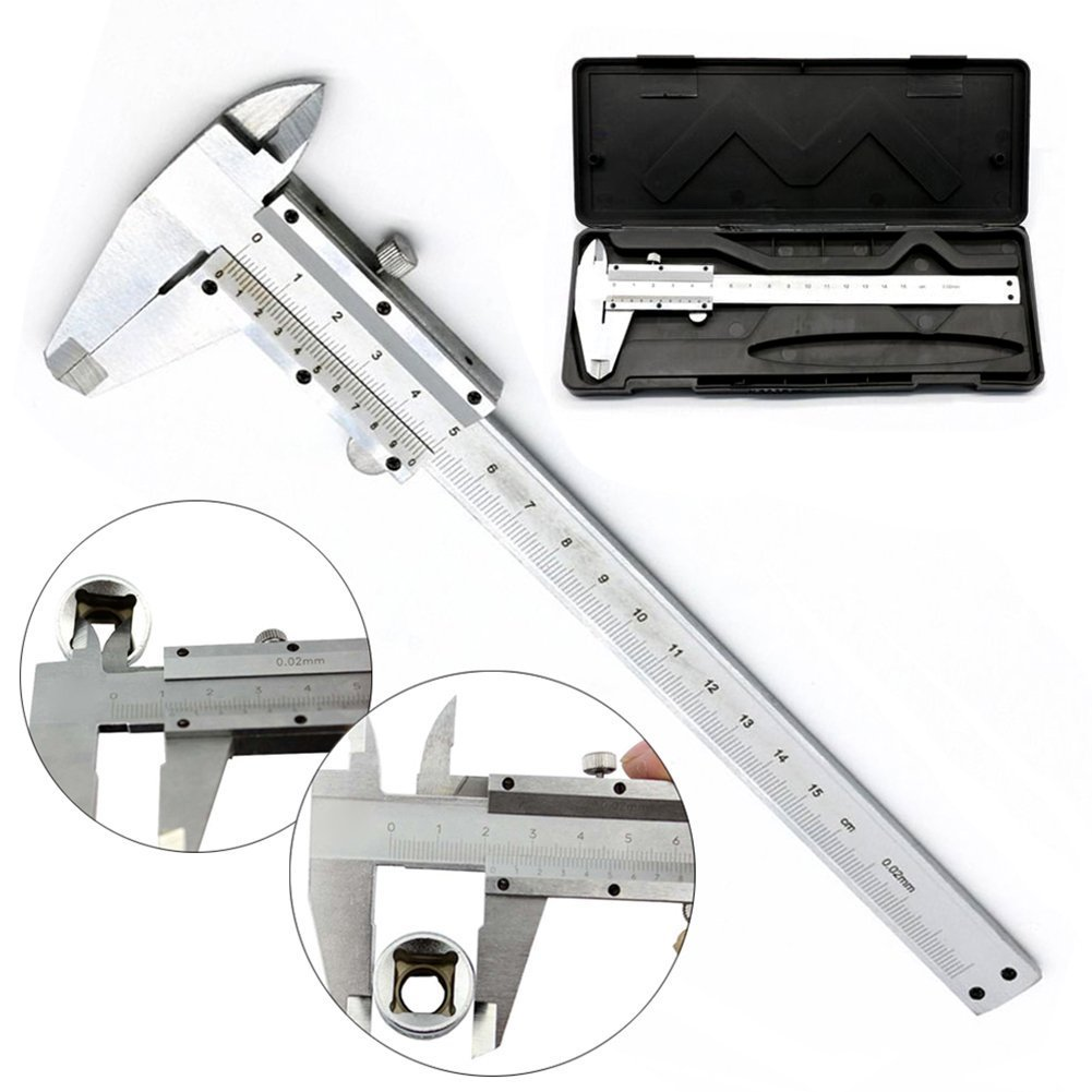 "6"" 150mm Digital Vernier Caliper LCD Display Electronic Micrometer Measuring Tool Gauge Littleducking BHBUKALIAINH2819"