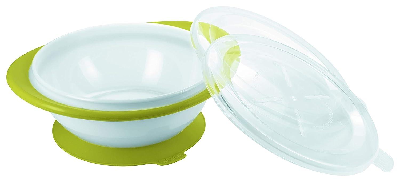 BPA frei NUK 10255199 Easy Learning Esslernschale f/ür Kinder ab 6 Monaten mit Saugnapf zwei Deckel Violett