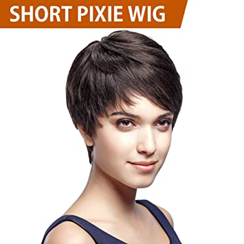 FASHION IDOL 5 Inches Cute Short Pixie Wigs