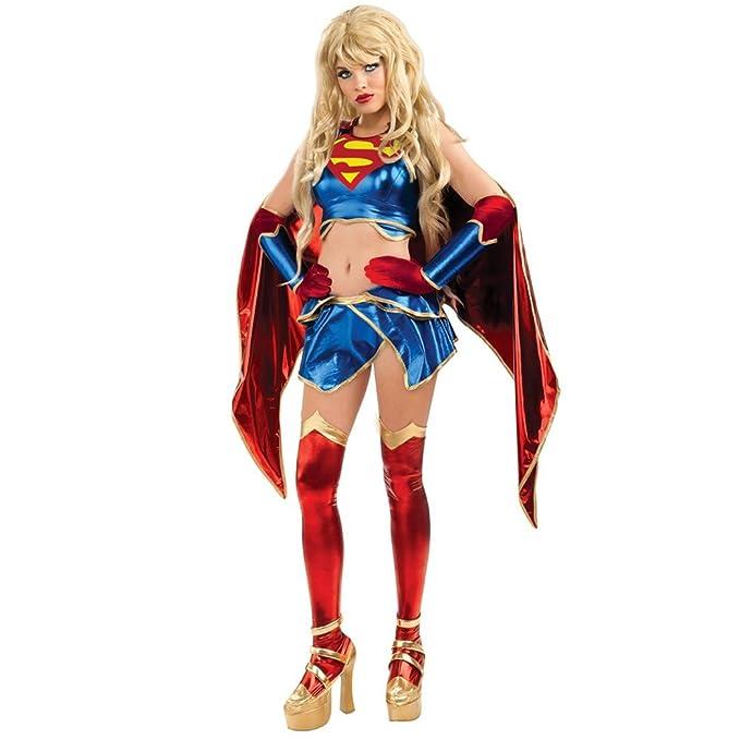 Disfraz Supergirl Amecomi mujer: Amazon.es: Juguetes y juegos