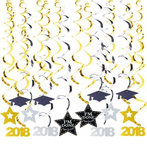 AAHAYA 졸업식 파티 용품 2018, Parac Graduaciones 2018, Gol..