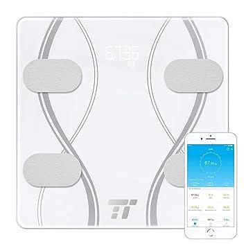 Amazon.com: TaoTronics - Báscula de grasa para el cuerpo con ...