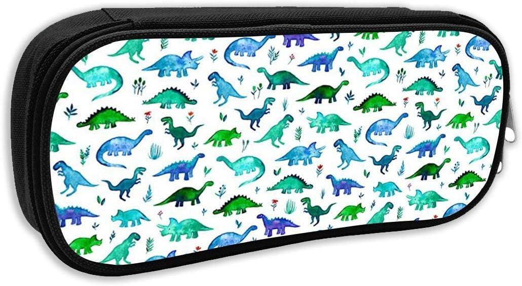 Dinosaurs - Estuche de tela con diseño de dinosaurios en azul y verde, para niños, material escolar, material de oficina: Amazon.es: Juguetes y juegos