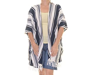 American Living Striped Poncho Cardigan Size L