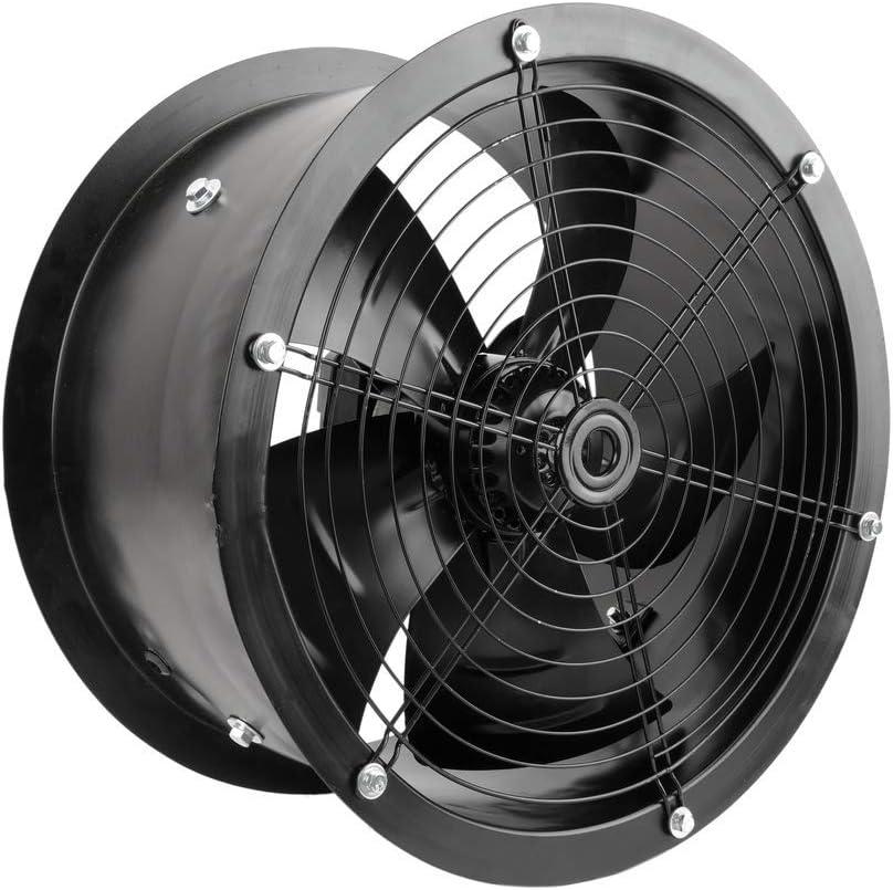 PrimeMatik - Extractor de Aire de Tubo de 400 mm para ventilación Industrial 1360 RPM Redondo 470x470x210 mm