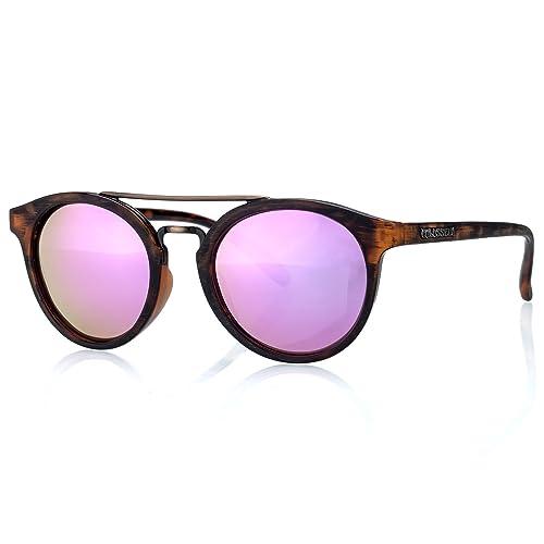 COLOSSEIN gafas de sol para mujer de moda gafas con lente polarizada espejo UV400 gafas de protecció...