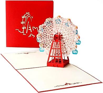 3D Pop Up Greeting Cards Ferris Wheel Birthday Easter Anniversary Thanksgiving