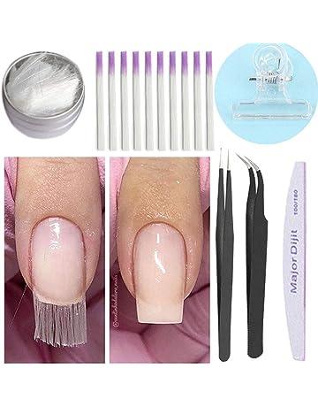 Anself Fibra de Vidrio para Uñas Extensión de Uñas Puntas de Acrilico Manicure Salon Tool (