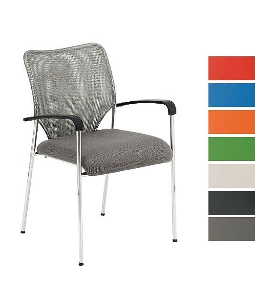 6 opinioni per CLP Sedia CUBA con braccioli, sedia impilabile/ sedia per ospiti con seduta ben