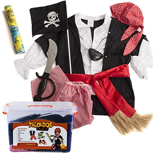 Pirate Costume Kids - Pirate Costume Accessories - Dress Up Clothes With Case by (Easy Kids Pirate Costume)