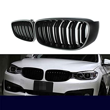 Amazon Com 1 Pair Front Grille For Bmw 3 Series F34 Gt 14 16 Matte