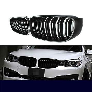 Rejilla delantera de 1 par para BMW Serie 3 F34 GT 14-16 Parrilla de paragolpes mate negra Rejilla de riñón frontal de repuesto: Amazon.es: Coche y moto