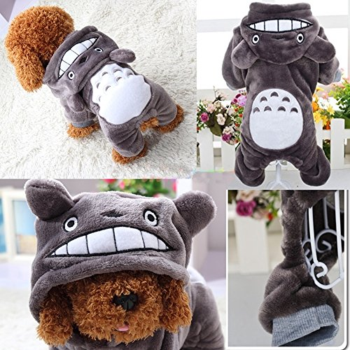 New Hoodie Costume Dog Clothes Pet Jacket Coat Puppy Cat Costumes Apparel Winter (XS) (Puppy Elf Costume)