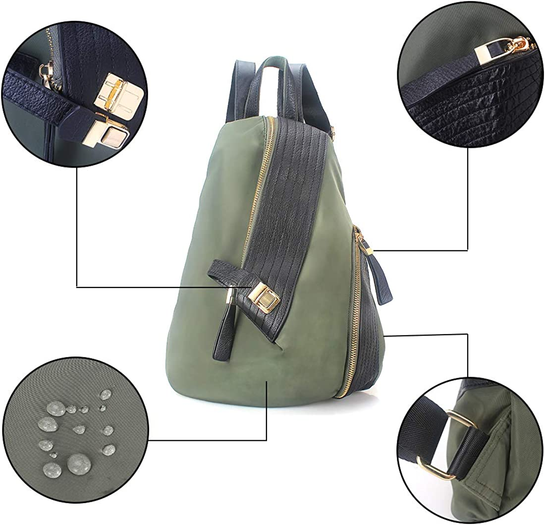 Womens Mini Backpack Purse Waterproof Nylon Anti-theft Backpack Multifunctional Small Fashion Travel College Backpacks for Women