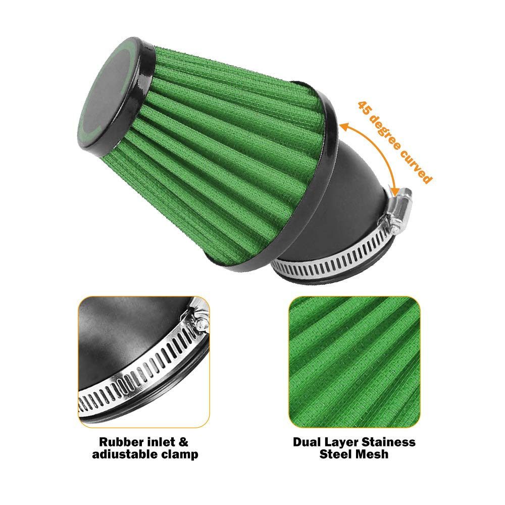Motorcycle & ATV Motorcycle Air Filter Universal 42mm Air Filters ...