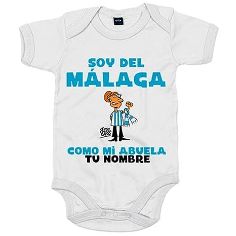 Body bebé soy del Málaga como mi abuela personalizable con nombre ...
