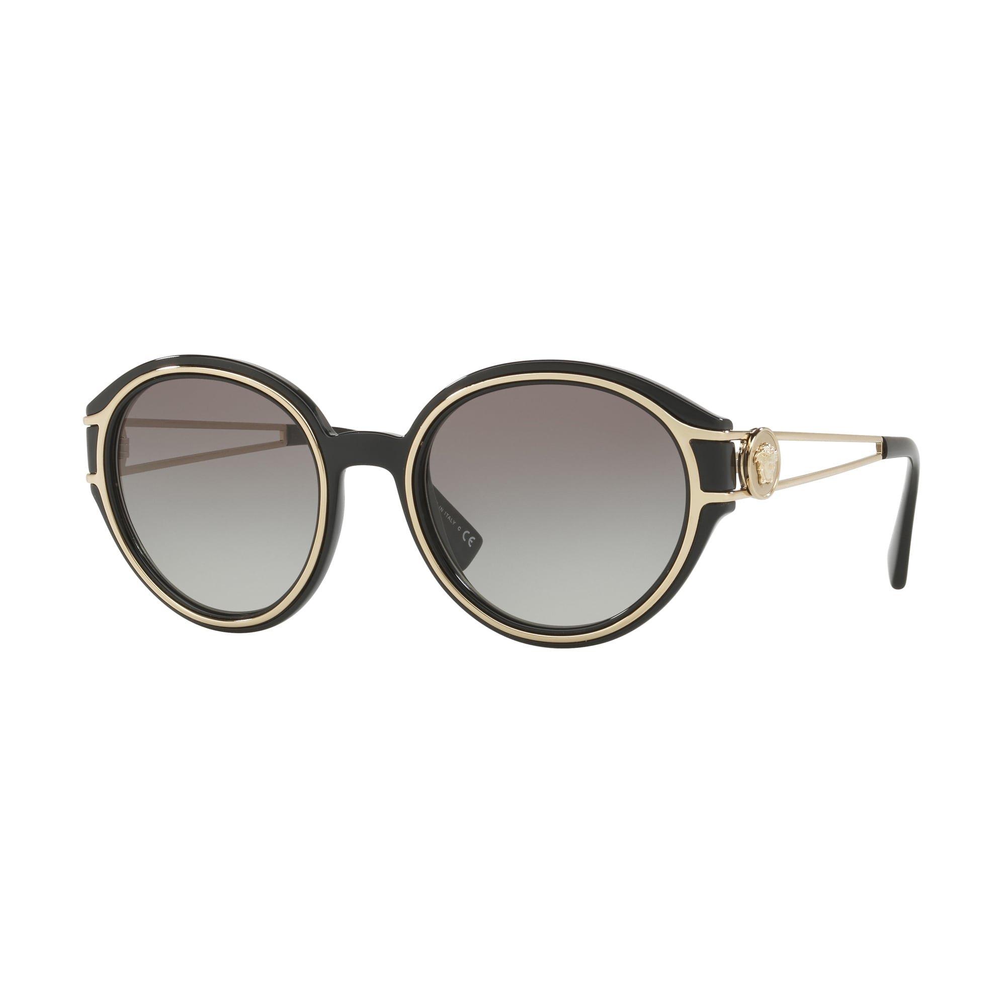Versace Women's VE4342 Black/Pale Gold/Grey One Size