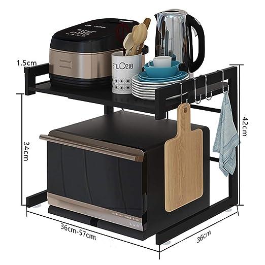 CHENSHJI Soporte de microondas Cocina Microondas telescópica Rack ...