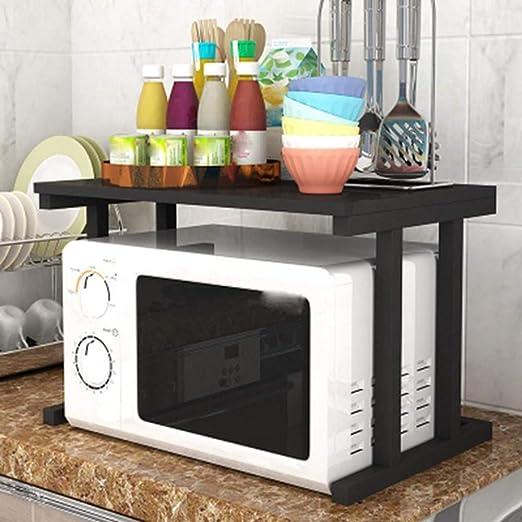 Rack de horno de microondas, cocina multifunción, horno doble ...