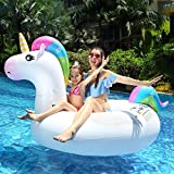 Innoo Tech Swimming Float Inflatable Unicorn - Pool Lounger for Adults Kids 83 x 43 x 45 Inch