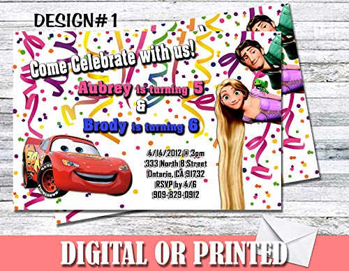 Any Character Theme Personalized Birthday Invitations More Designs Inside!]()