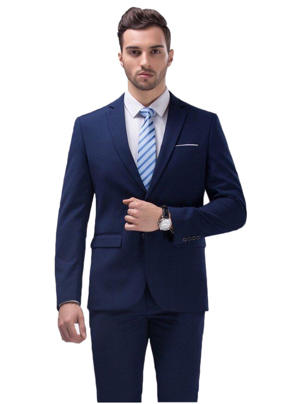 Love Dress Tuxedos for Men Two-Piece Suit Wedding Suits Blue 5XL