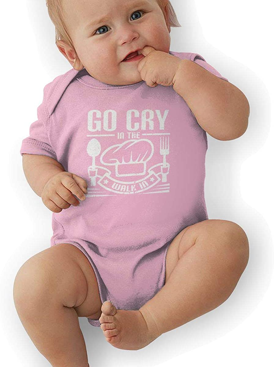 Go Cry in The Walk in Baby Short Sleeve Bodysuits Cotton Toddler Onesies