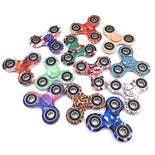 Price comparison product image Fidget Spinner, Tutent Camouflage Hand Spinner Anti-Anxiety Tri-Spinner Fidget Toy With Stainless Steel Bearing