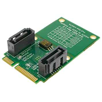 BeMatik - Tarjeta adaptadora SSD mSATA a SATA 2 x 7-pin: Amazon.es ...