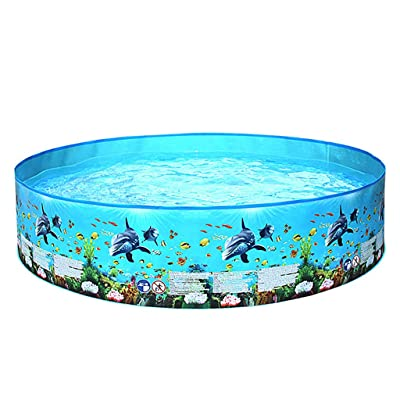 "Swimming Pool for Kids Toddler and Baby Pool, 48"" Diameter x 10"" Depth, Inflatable Swimming Pool Blow Up Pool for Family Kids Backyard Foldable: Beauty"