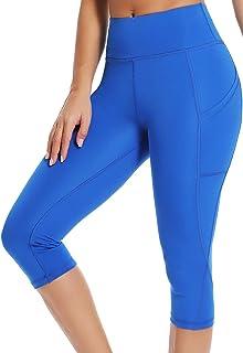 SEYO Yoga Pantalones Mujer Pantalones Deportivos Cintura ...