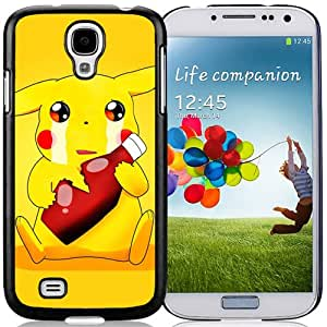 Personalized Pokemon Popular Cute and Funny Pikachu 25 Galaxy S4 Generation Phone Case in Black