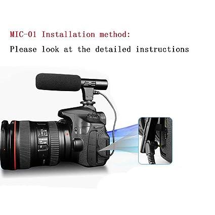 fghdfdhfdgjhh Ajuste bMIC-01 Cámara réflex Micrófono Fotografía ...