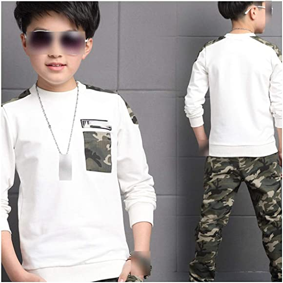 Teen Kids Baby Boys Letter Tracksuit Camouflage Tops Pants 2PCS Outfits Set UK