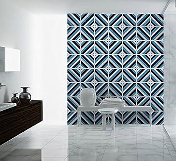 Wandaufkleber Diagonale Mid Century Fliesen Badezimmer Moderne Deko Ideen  (Packung Mit 48)   30