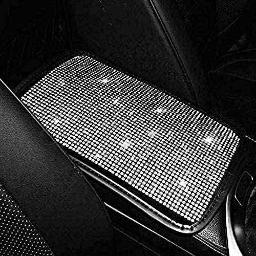 Bling Bling Car Armrest Cover Auto Center Console Cushion PadBling Car AccessoriesUniversal Size Fit for All Kinds of Car