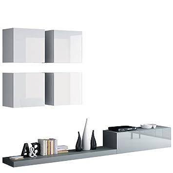 Wohnwand Pixel II, Modernes Wohnzimmer, Anbauwand, Fernsehschrank ...