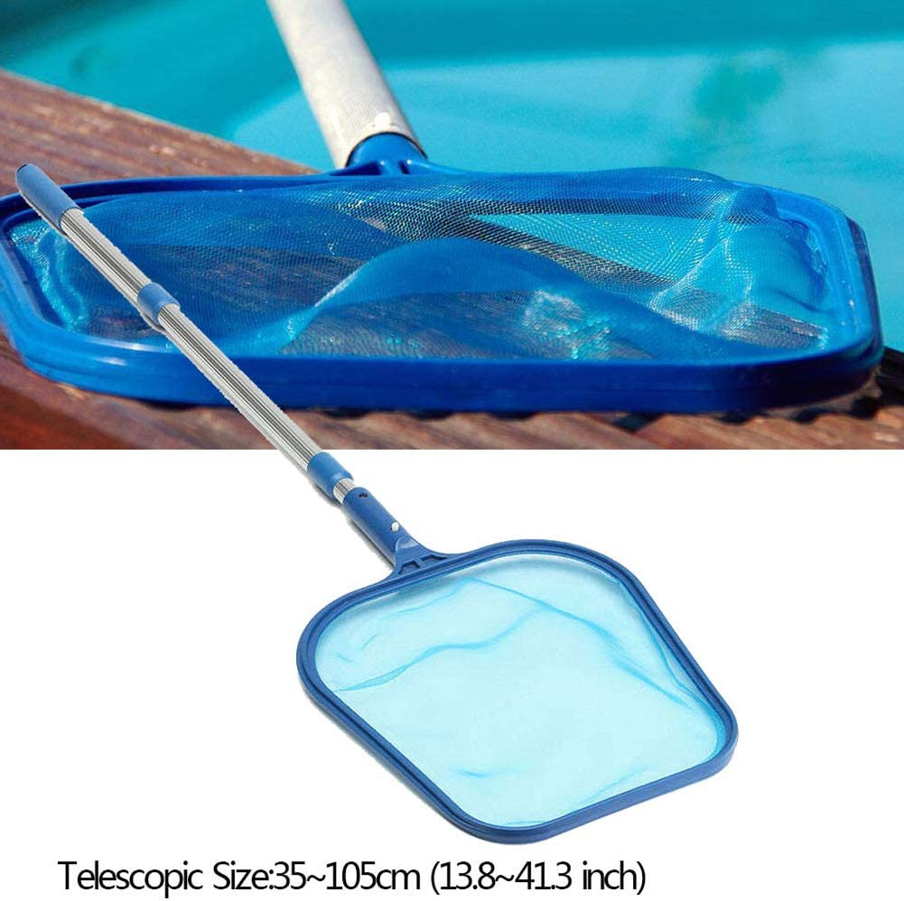 3 * 35cm Swimming Pool Leaf Skimmer Mesh Net with Telescopic Pole Pond Tub Cleaning Tool