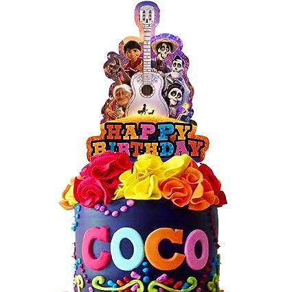 Coco - Decoración para tarta de cumpleaños, suministros para ...