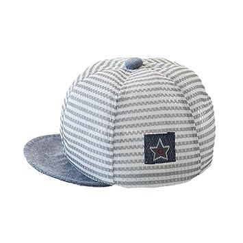 Newborn Baby Boys Girs Cotton Stripes Mesh Baseball Cap Sun Protection  Newsboy Hat Beanie Beret Cap 37edc8979e4c