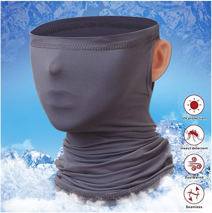 Idefair Face Cover Mask Neck Gaiter Face Bandana Scarve Dust Sun UV Protection