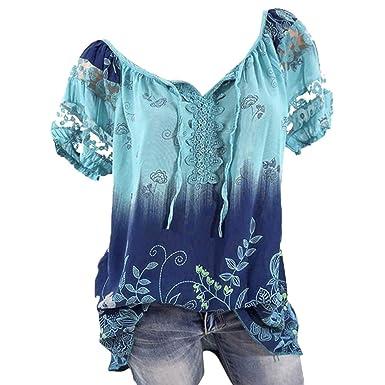 4ca3c83a6391 Damen Oberteile V-Ausschnitt Bluse Übergröße T-Shirt Kurzarm Stretch große  größen Casual Tunika